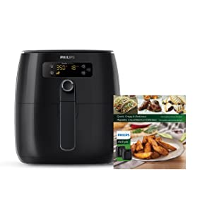 Philips HD9641/99 Avance Digital Turbostar Frustration Free Airfryer 1.8 lb/2.75 quart Black Cookbook