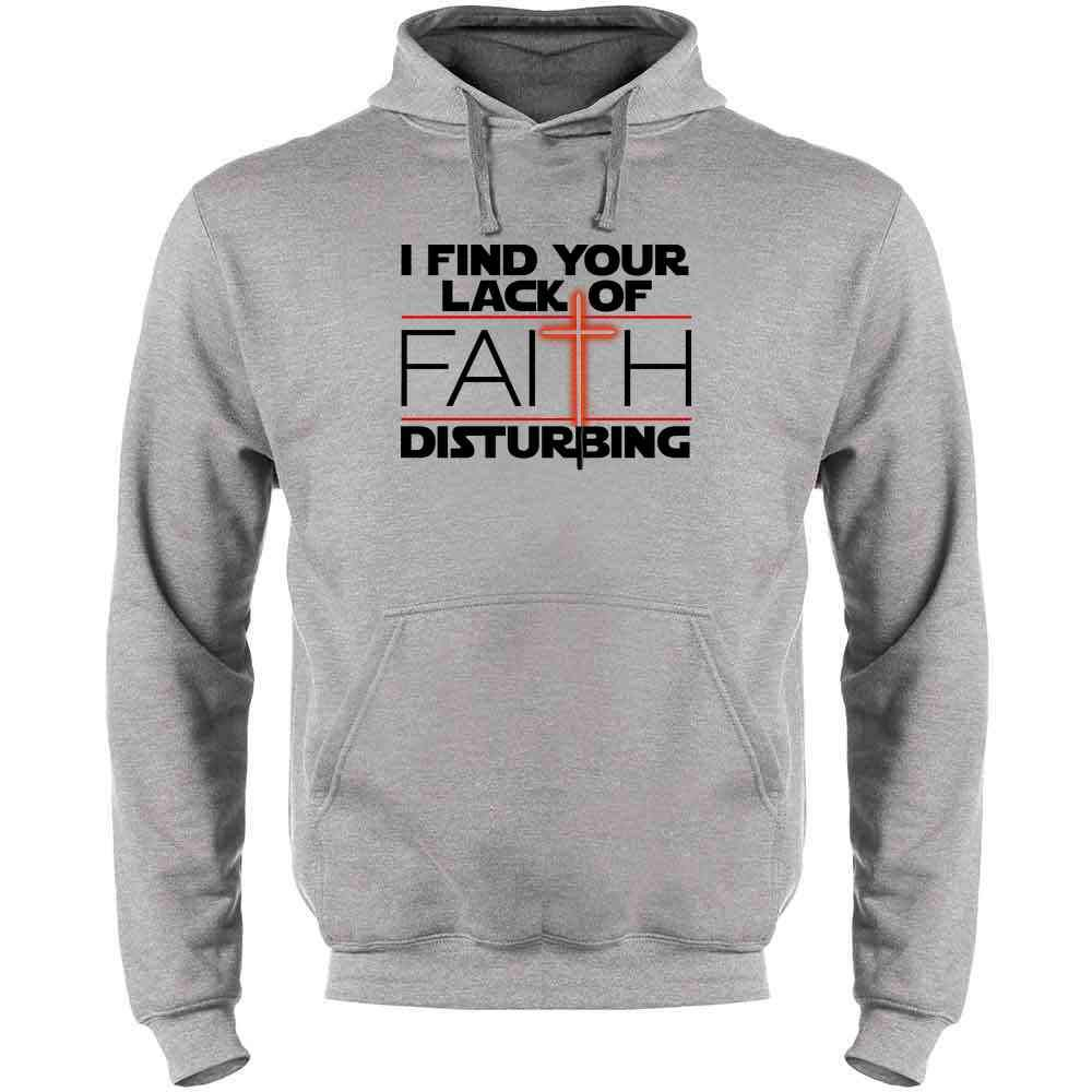 Pop Threads I Find Your Lack of Faith Disturbing Mens Fleece Hoodie Sweatshirt