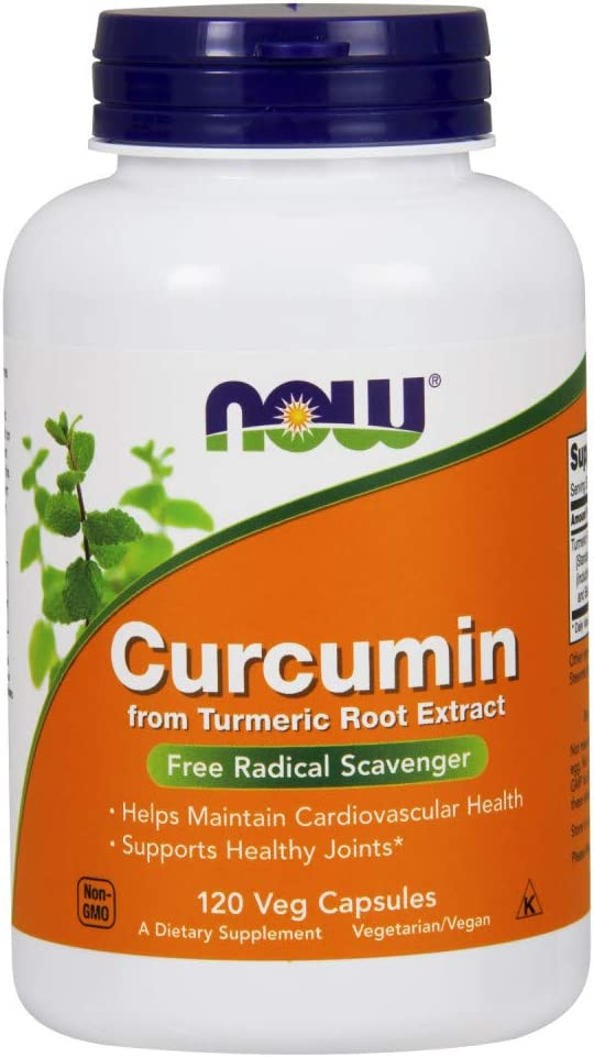 NOW Supplements, Curcumin, derived from Turmeric Root Extract, 120 Veg Capsules: Health & Personal Care
