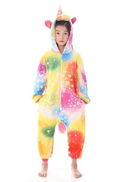 05c04f378 Amazon.com: Kids Unicorn Onesie Pajamas Costume - Animal Cosplay Onesies  Sleepwear for Child: Clothing