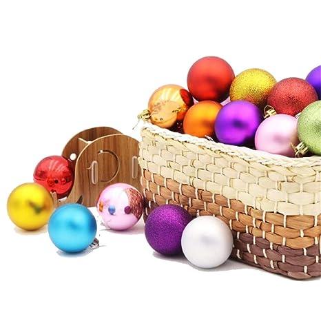 Immagini Di Natale Colorate.Sunshine Palla Di Natale 24 Barili Di Palline Colorate