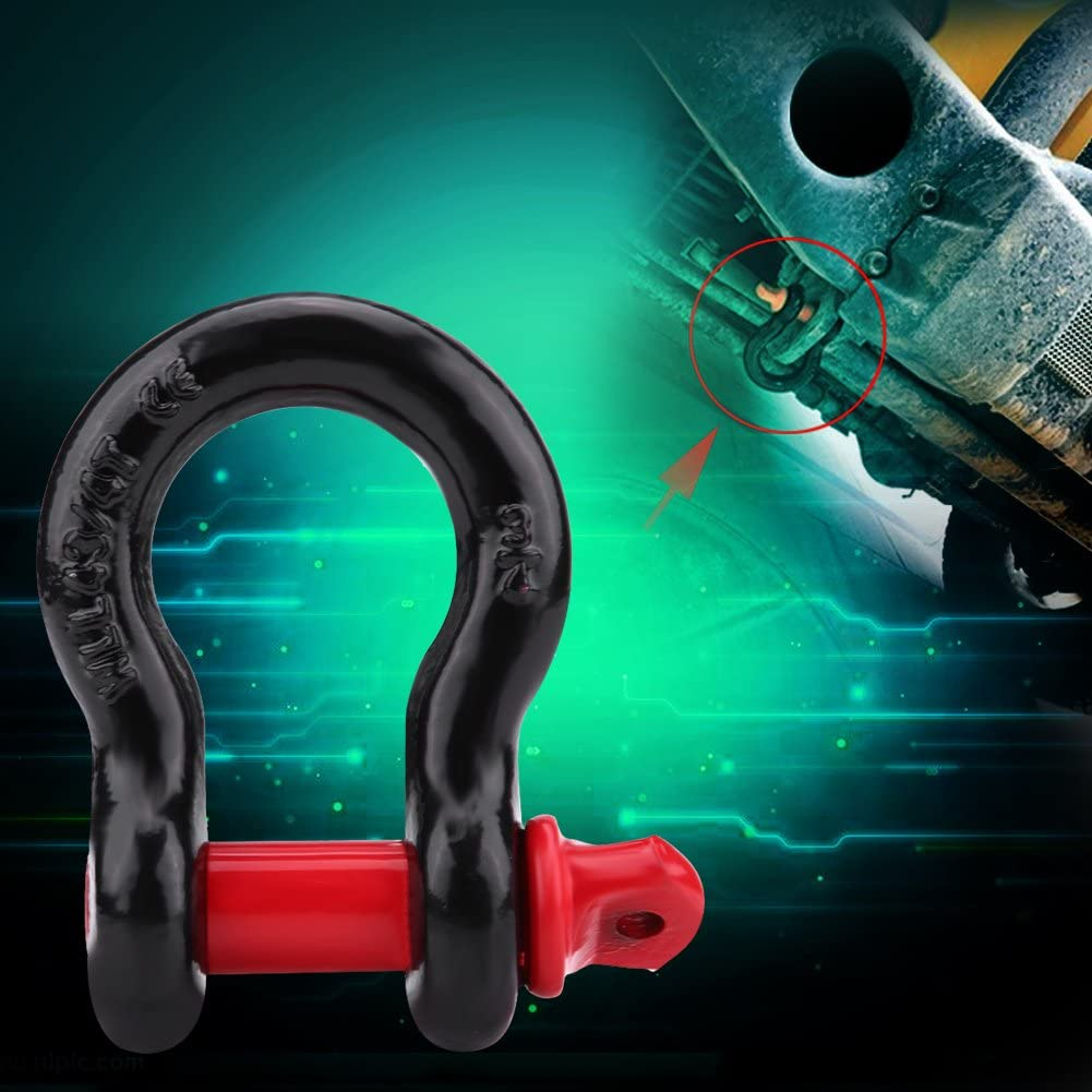 2T Sch/äkelhalterung Hochleistungs-D-Ring-Sch/äkel Verzinkte Sch/äkel D-Ring-Windenverbindungshaken f/ür die Fahrzeugwiederherstellung Abschleppen in 2 Gr/ö/ßen