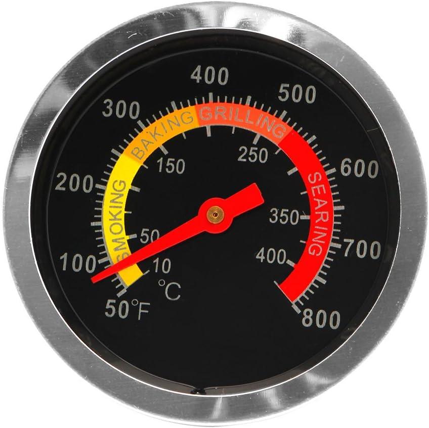 ECMQS Acero Inoxidable Barbacoa BBQ de Fumadores Grill termómetro Calibre de Temperatura 10–400℃