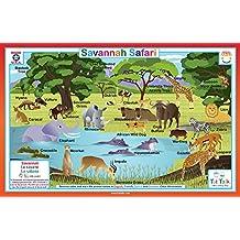 Tot Talk Savannah Safari Placemat