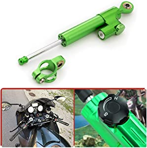 255mm Universal Motorcycle Adjustable Steering Damper Stabilizer Safety Control Linear Reversed For Kawasaki Ninja 250 300 ZX6R ZX10R ZX14R Z900 Z800 Z1000 Z125 Z300 Z250 ER6N VERSYS 650 1000 KLE
