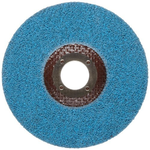 Norton Bear-Tex Depressed Center Vortex Rapid Finish Unified Nonwoven Abrasive Wheel, Type 27, 4-1/2 Diameter, 7/8 Arbor, Grit 5AM (Pack of 10) by Norton Abrasives - St. Gobain (Wheel Unified)