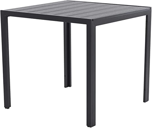 colourliving Table de Jardin en Aluminium Noir 70 x 70 cm ...