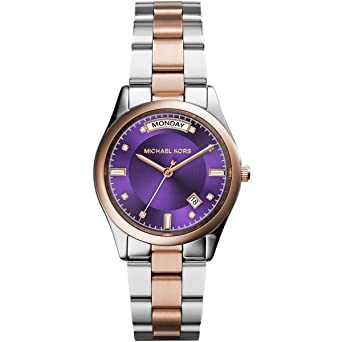 762f4f8829f0 Michael Kors MK6072 34mm Stainless Steel Case Multicolor Two Tone Stainless  Steel Mineral Women s Watch  Amazon.co.uk  Watches