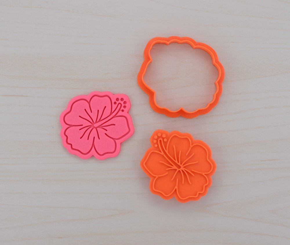 Amazon Hibiscus Cookie Cutter And Stamp Set 41 Inches