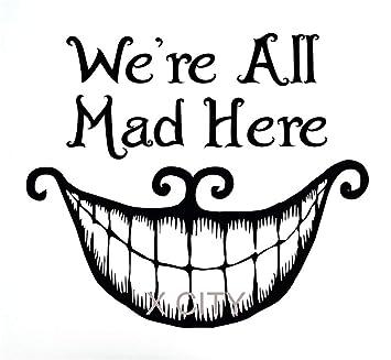 Dibujos animados Cheshire Cat Smile tatuajes de pared Alicia en el ...