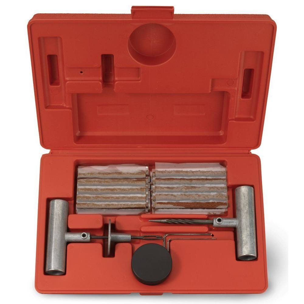 J&R Quality Tools Tire Repair Kit Set to Plug Flat and Punctured Tires   35-Piece Set