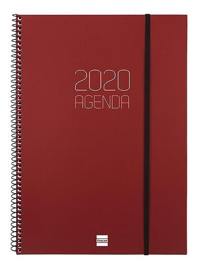 Finocam - Agenda 2020 semana vista apaisada Espiral Opaque ...