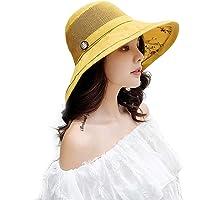 JUHARFA Women Bucket Hat Summer Beach Sun Hats for Women UPF Woman Foldable Floppy Travel Packable UV Hat Cotton Wide…