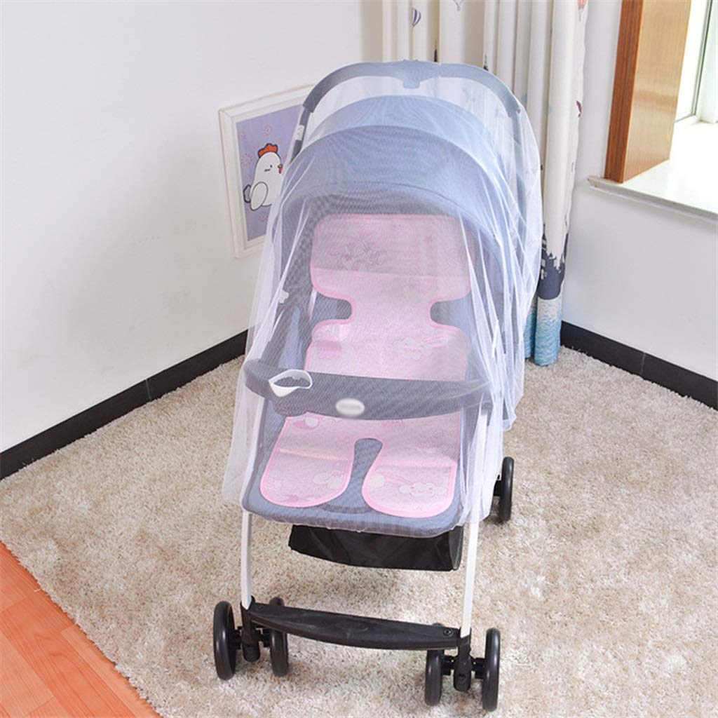 Bed Canopies & Drapes Infants Baby Stroller Pushchair Nets Safe Mesh Buggy Crib Netting Cart Pushchair Full Cover Netting Durable mattresses and curtains ( Color : Purple , Size : 27.55-59.05inchs ) by LQW HOME (Image #6)