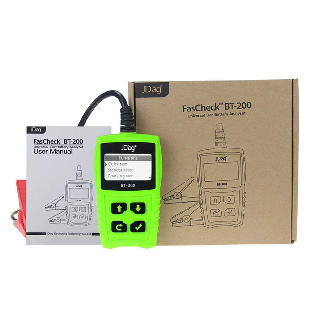 Zigtee JDiag FasCheck BT200 12V Auto Battery Tester Car Cranking and Charging System Test Scan Tool Battery Analyzer Diagnostic Tool for CCA MCA JIS DIN IEC EN SAE GB etc by Zigtee (Image #7)