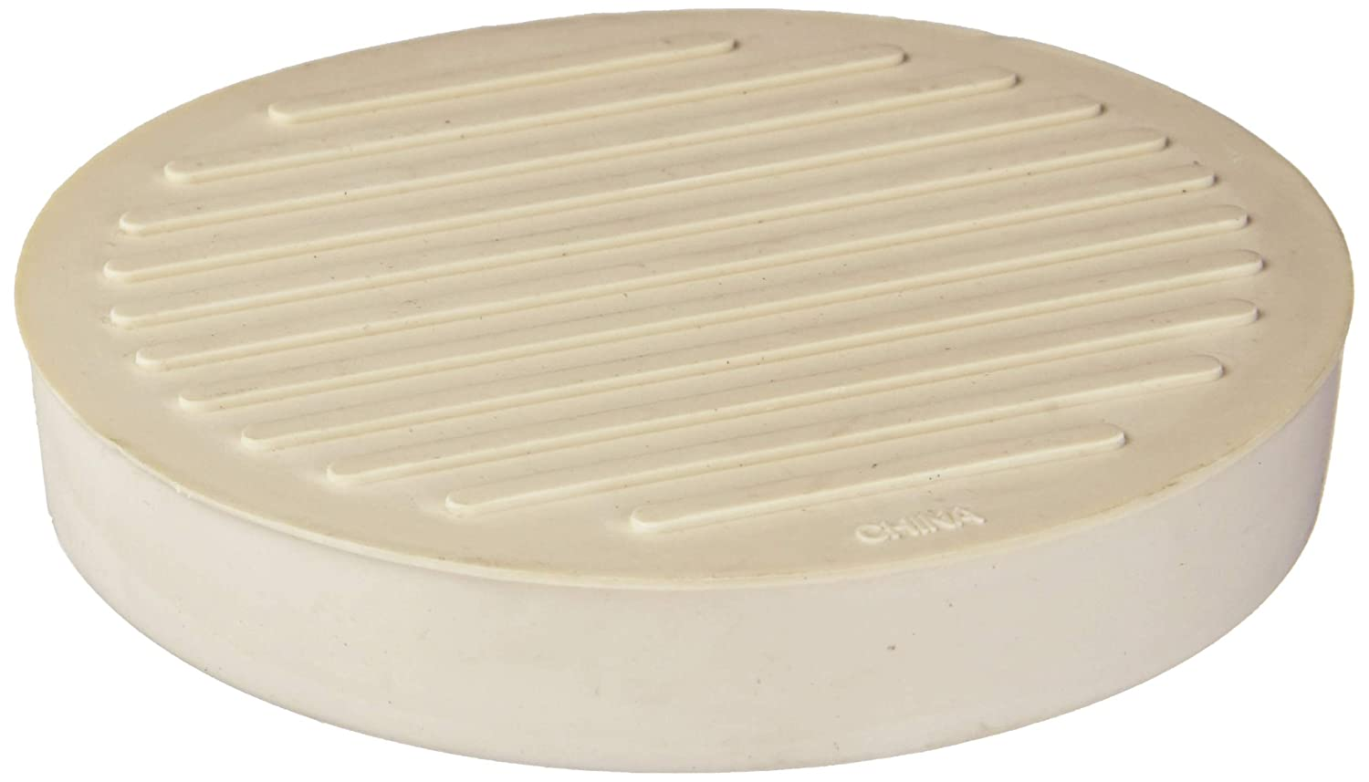 """Shepherd Hardware 9068 Round Rubber Furniture Cups (2 Pack), 3"""", Off White"""