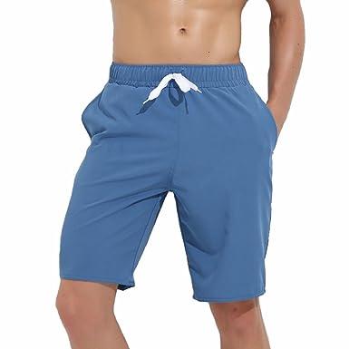 bdf253c9a1b TieNew 2018 Mens Summer Swim Shorts, Summer Beach Quick Dry Swim Trunks  Solid Color Knee