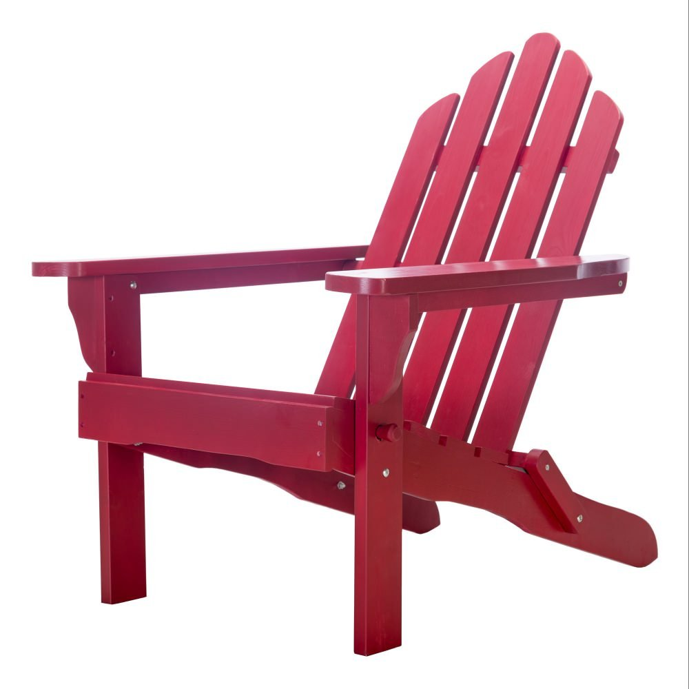 Essentials by DFO Exclusive Folding Wood Adirondack Chair - Painted Red