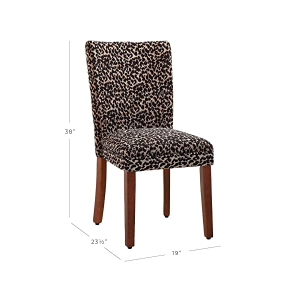 HomePop N6354-F354 Parsons Dining Room Tables and Chairs, Leopard