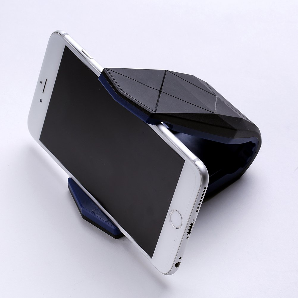 UKCOCO Clip de cocodrilo del telé fono, soporte ajustable del soporte del telé fono del coche para el iPhone Samsung Google Pixel Sony LG ZTE (negro)