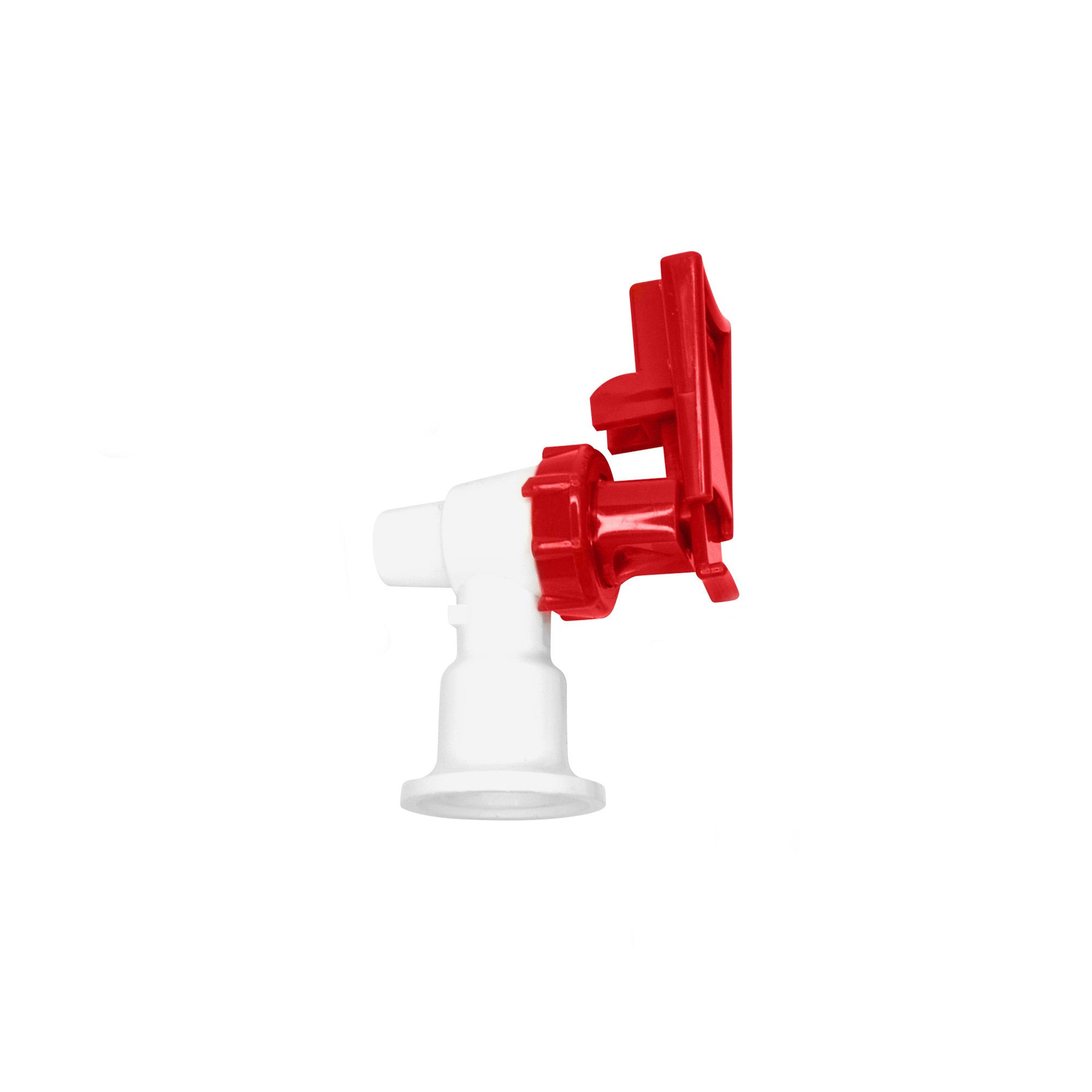 Tomlinson 1009470 White Cooler Replacement Faucet - Red Touch Guard