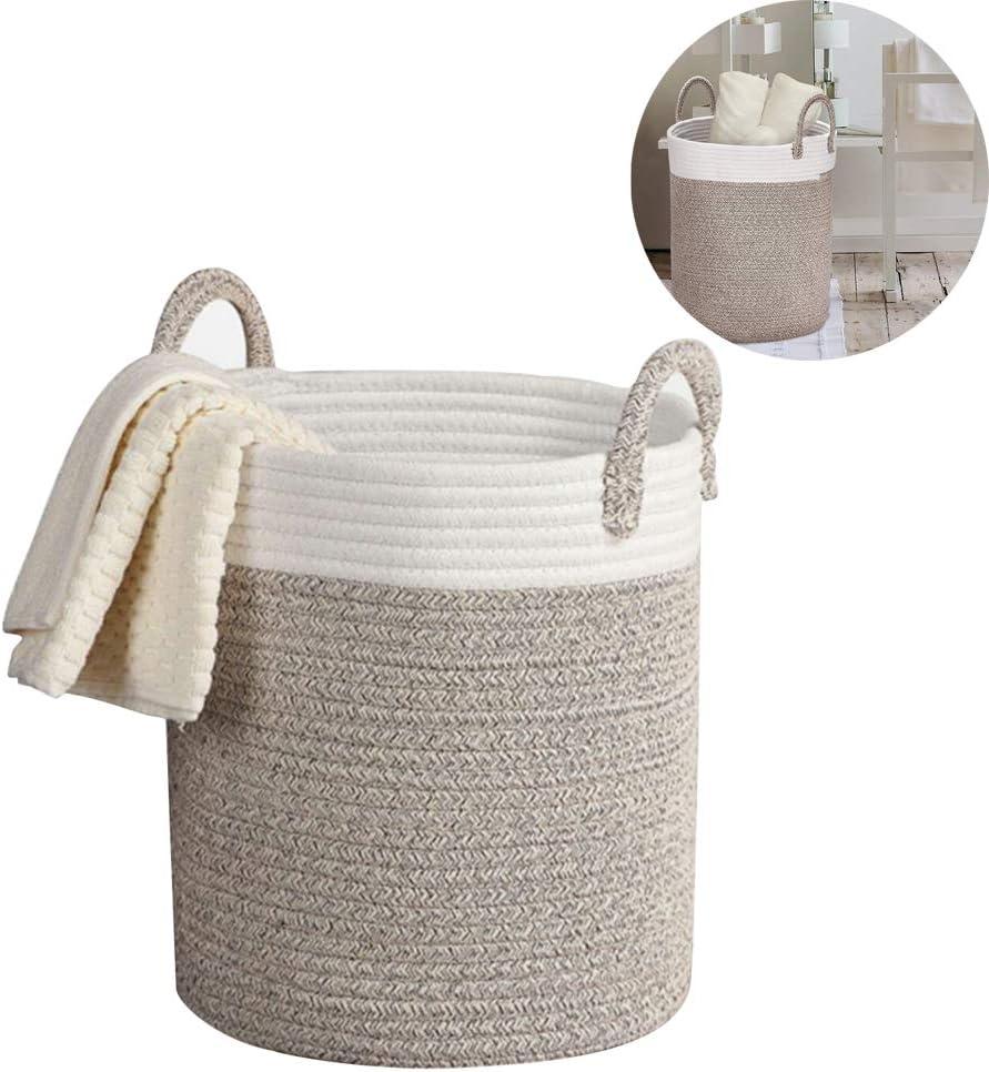 HBIAO Cestos de Lavadora para Ropa Sucia Tejidas en algodón, Gran Capacidad Duradera Toalla Ropa Cuerda Manta de Punto práctico Organizador baño Regalo: Amazon.es: Hogar