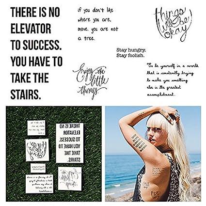 Tatuaje Temporal Tattify - Tipografía Motivacional - Charla Real ...