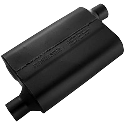 Flowmaster 42443 40 Series Muffler - 2.25 Offset IN / 2.25 Offset OUT - Aggressive Sound: Automotive