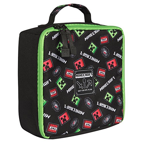 2427f90db7 JINX Minecraft Scatter Creeper Insulated Lunch Bag (Black) - Buy Online in  UAE.