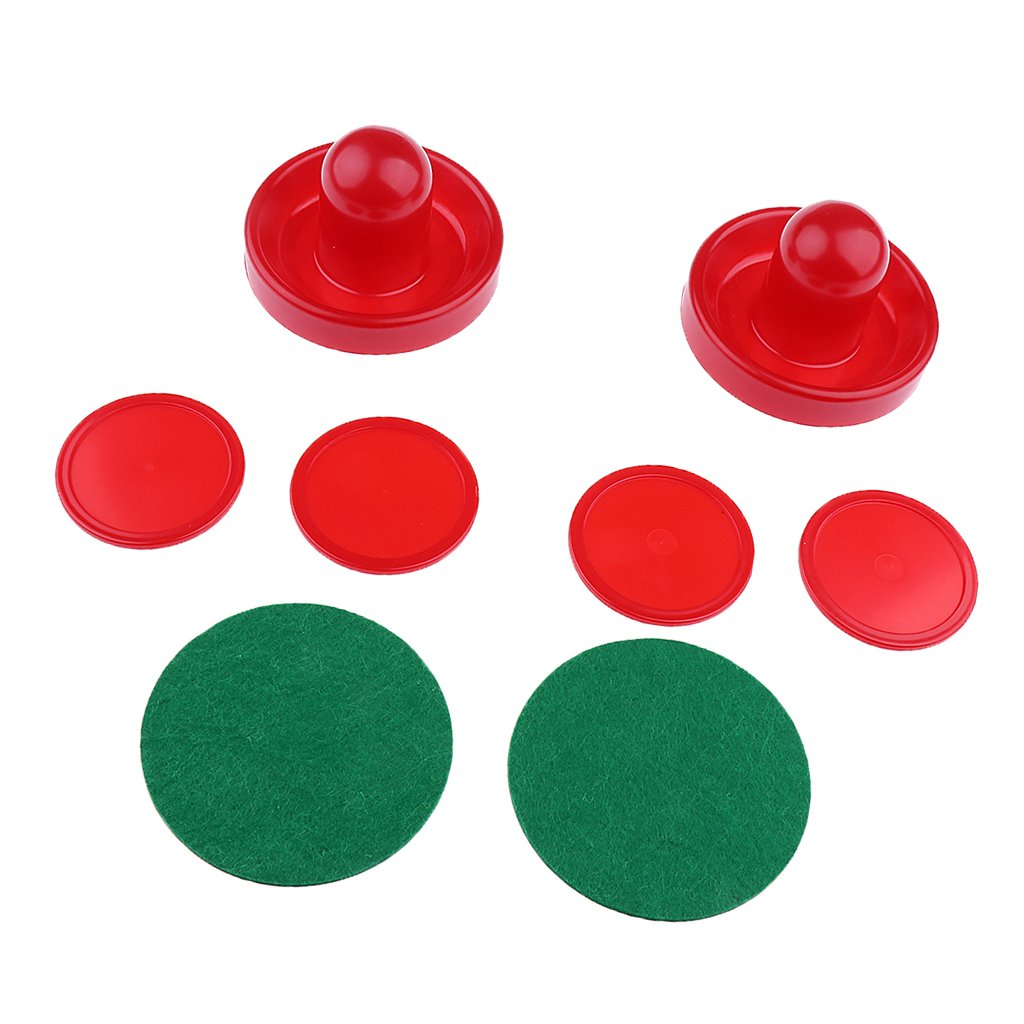 Rouge S Sharplace 2 Pusher Poussoir Table de Hockey Poign/ée 4 x Palet Hockey Table Rondelle Air Hockey