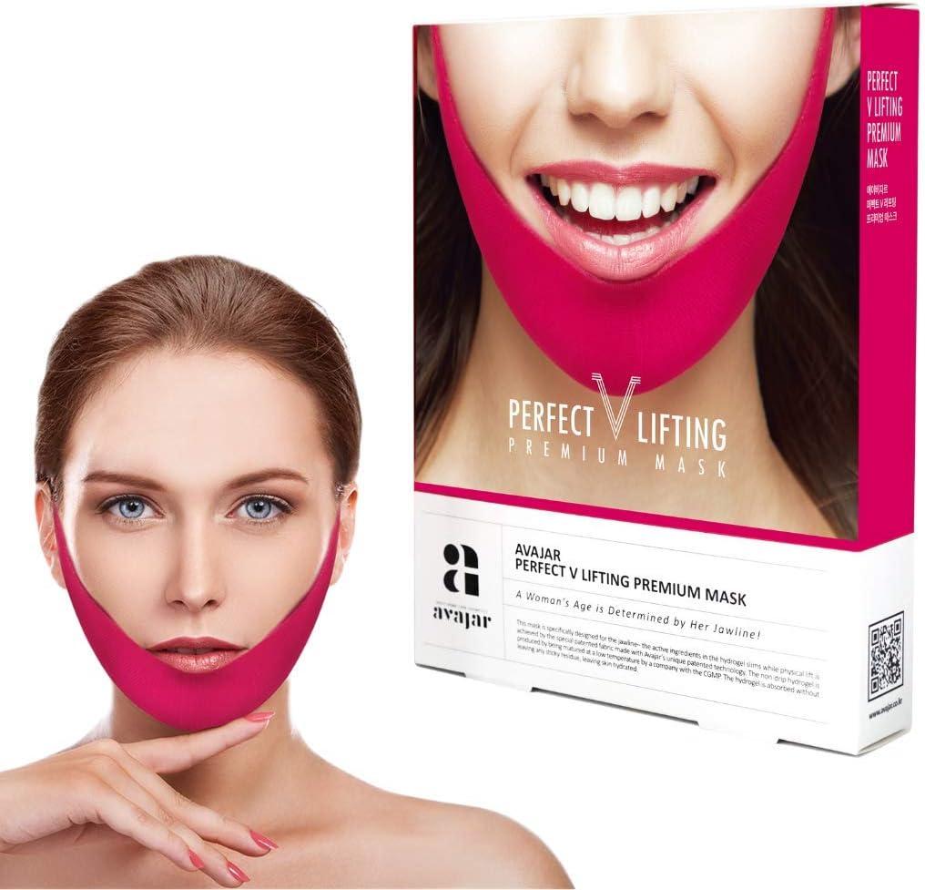 Avajar Perfect V-Line Face V Lifting Premium Mask Chin Up Slimming Line Pack of 5