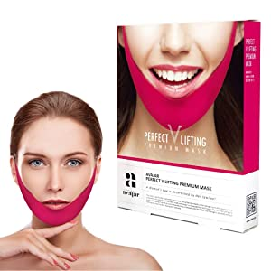 Avajar Perfect V Lifting Premium Mask 5pcs - V Line Mask | Face Lifting Mask | Face Slimmer | Chin Strap For Double Chin Remover | V Shaped Slimming Face Mask | Double Chin Mask