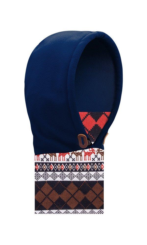 DEKINMAX WATERFLY Fleece Balaclava for Boys Girls Winter Windproof Fleece Warm Scarf Full Face Mask Hat for Outdoor Sports Snowboarding Cycling Sledding