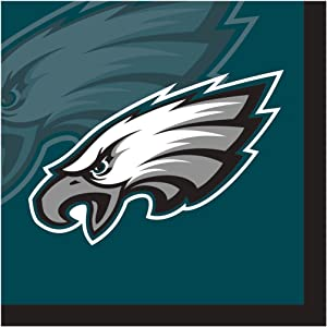 Creative Converting Officially Licensed NFL Paper Beverage Napkins, 192-Count, Philadelphia Eagles -