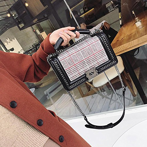 Hundred Fashion Satchel Lock Chain lap Single Messenger Shoulder Maerye Bag q1AHxwq