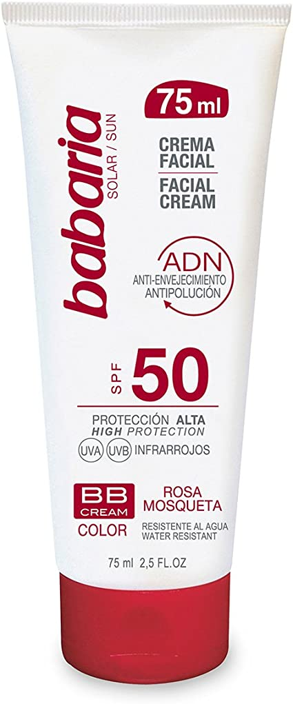 Babaria Crema Facial Solar BB Rosa Mosqueta - 75 ml: Amazon.es ...