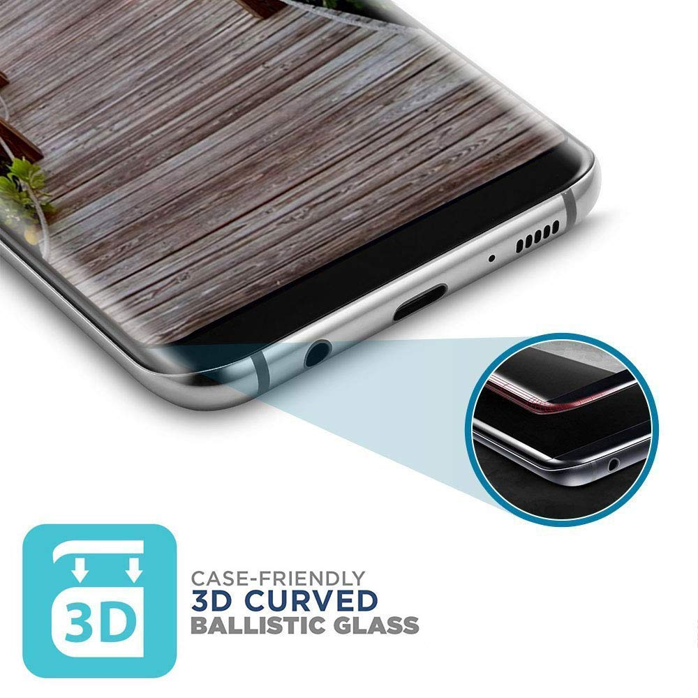 Galaxy S8 Screen Protector,Full Coverage High Definition Anti-Scratch 3D Curved Tempered Glass Screen Protector for Samsung S8