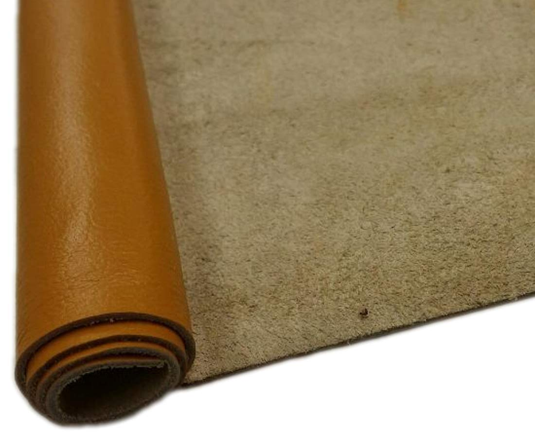 REED Leather HIDES - Cow Skins Various Colors & Sizes (40 Square Foot, Light Brown)