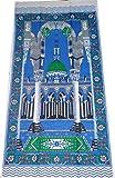Muslim Portable Prayer Rug Thin Cloth Islamic Namaz Sajadah School Camping Backpack Travel Office Sajjadah - Blue