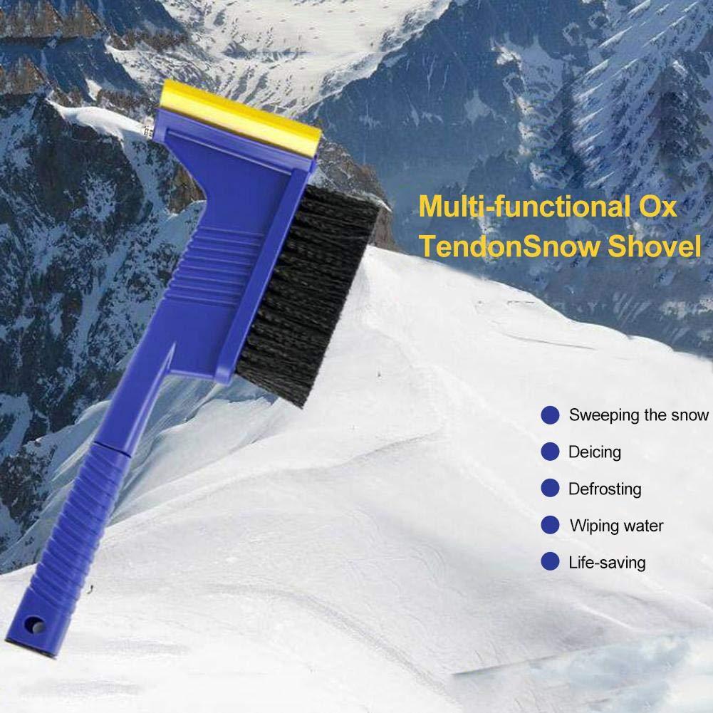 Multifunzione Pala da Neve spazzolino da Neve Pala per Ghiaccio happygirr Raschietto per Ghiaccio Auto 2 in 1 Combinazione spazzole