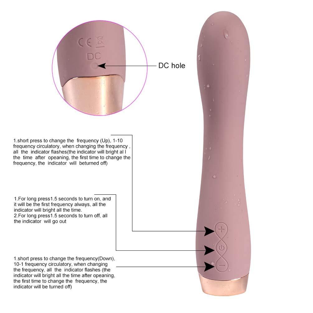 Vibrador Estimulante Inalámbrico Varita Masajeador Mano Impermeable Vibrador Eléctrico Clítoris Estimulante Vibrador Juguete Vibrante Sexo Femenino be5bde