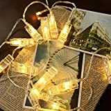 20 LED Photo Clip String Lights, Christmas Indoor String starry light, Fairy Twinkle Lights USB Powered for Party/Wedding/Christmas Décor, Perfect Anniversary Ornament (20U)