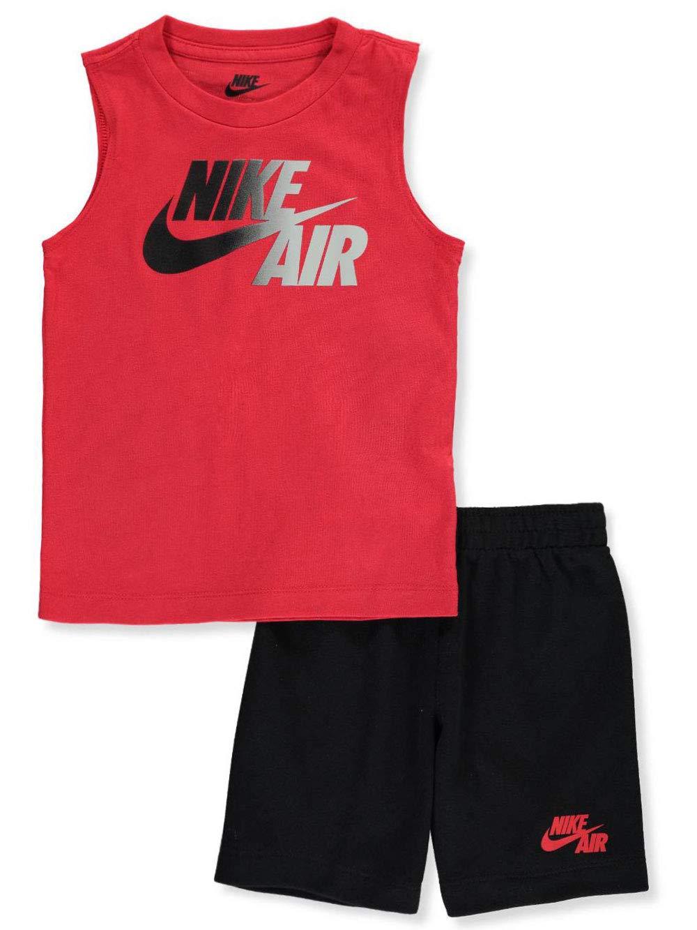 Nike Boys' 2-Piece Shorts Set Outfit - Black/University red, 7