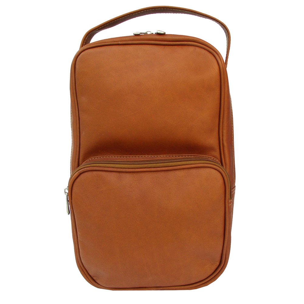 Piel Leather Carry-All Vertical Shoe Bag, Saddle, One Size