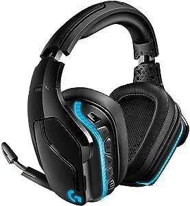 سماعة راس لالعاب الكمبيوتر عازلة للصوت المحيط باضاءة فضاء لوني RGB موديل G935 DTS:X 7.1 من لوجيتك