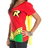 DC Comics Robin V-Neck Caped Tee Juniors Costume