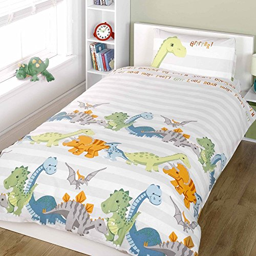 Dinosaurs Natural Junior/Toddler Duvet Cover and Pillowcase