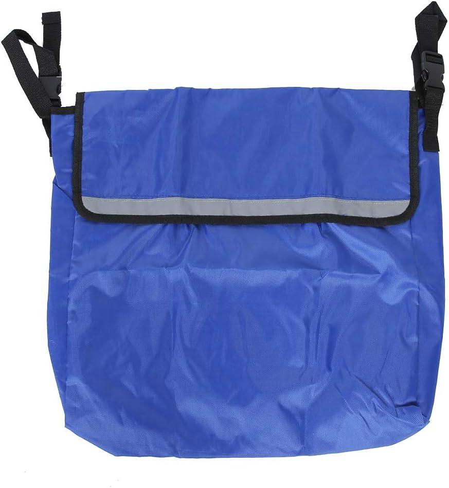 Mochila para silla de ruedas Bolsa de almacenamiento,silla de ruedas eléctrica de alta capacidad Mobility Scooter Mochila Bolsa colgante Accesorios Bolsa de ayuda para la movilidad (Azul)