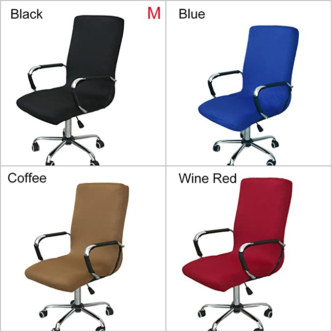 Amazon.com: SHZONS Office Chair Cover, Elastic Siamese Office Chair Cover Swivel Chair Computer Armchair Protector Executive Task Slipcover Internet Bar ...