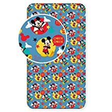Mickey Mouse Cheese Single Fitted Bed Sheet By BestTrend